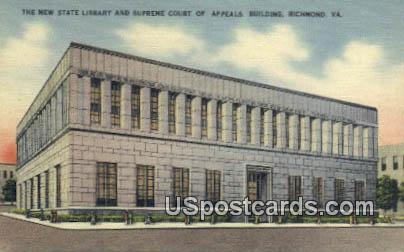 New State Library & Supreme Court - Richmond, Virginia VA Postcard