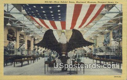 Main Exhint Room - Newport News, Virginia VA Postcard