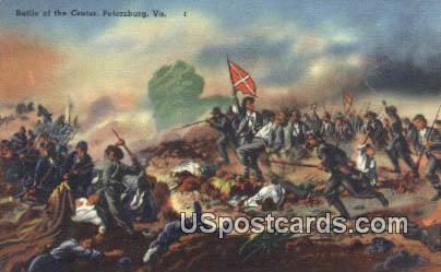 Battle of the Crater - Petersburg, Virginia VA Postcard