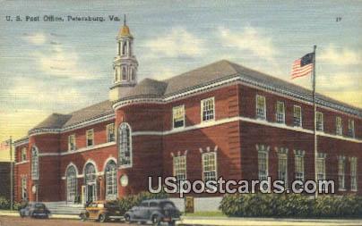 US Post Office - Petersburg, Virginia VA Postcard