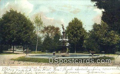Fountain, Central Park - Petersburg, Virginia VA Postcard