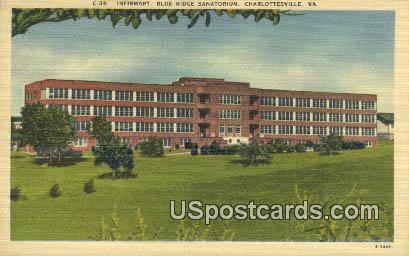 Infirmary, Blue Ridge Sanatorium - Charlottesville, Virginia VA Postcard