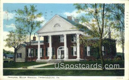 Brompton, Marye Mansion - Fredericksburg, Virginia VA Postcard
