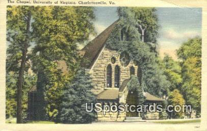 Chapel, University of Virginia - Charlottesville Postcard