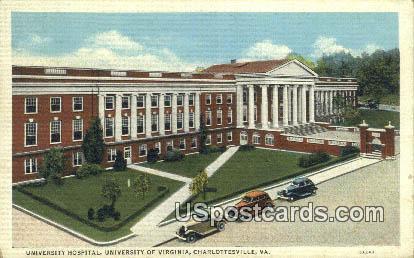 University Hospital, University of Virginia - Charlottesville Postcard