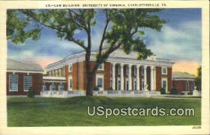 Law Building, University of Virginia - Charlottesville Postcard