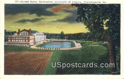 Gymnasium, University of Virginia - Charlottesville Postcard
