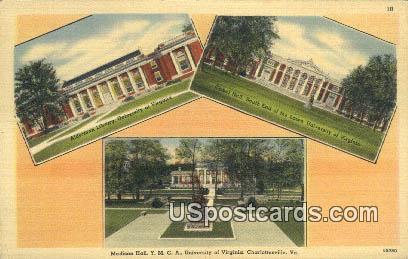Madison Hall YMCA, University of Virginia - Charlottesville Postcard