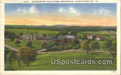 Blue Ridge Sanatorium - Charlottesville, Virginia VA Postcard