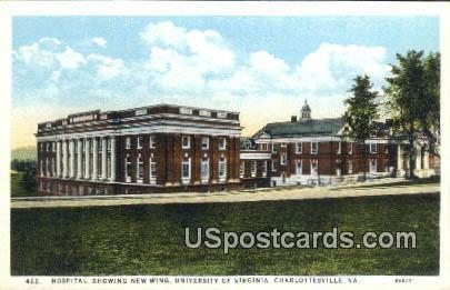 Hospital, University of Virginia - Charlottesville Postcard