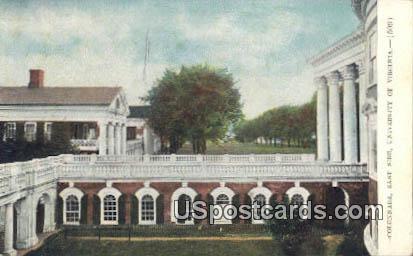 Colonnade, University of Virginia - Charlottesville Postcard