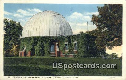 Observatory, University of Virginia - Charlottesville Postcard