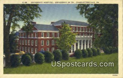 University Hospital, University of Virginia - Charlottesville Postcard