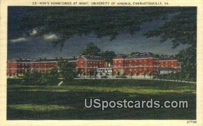 Men's Dormitory, University of Virginia - Charlottesville Postcard