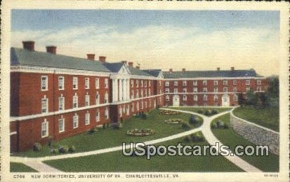 New Dormitories, University of Virginia - Charlottesville Postcard