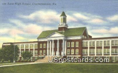 Lane High School - Charlottesville, Virginia VA Postcard