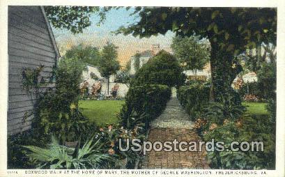 Home of Mary the Mother of George Washington - Fredericksburg, Virginia VA Postcard
