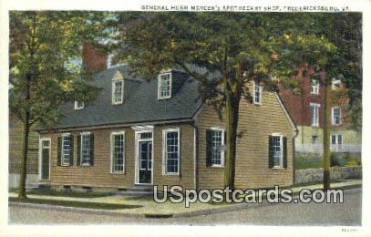 General Hugh Mercer's Apothecary Shop - Fredericksburg, Virginia VA Postcard