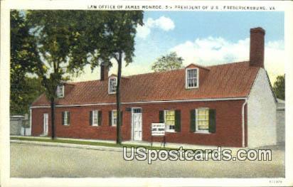 Law Offices of James Monroe - Fredericksburg, Virginia VA Postcard