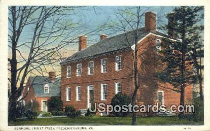 Kenmore - Fredericksburg, Virginia VA Postcard