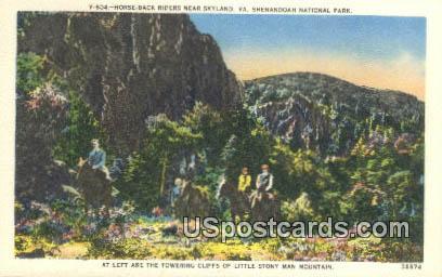 Horse Back Riders - Shenandoah National Park, Virginia VA Postcard