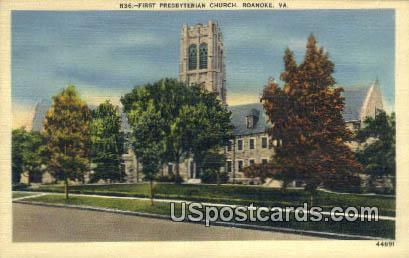 First Presbyterian Church - Roanoke, Virginia VA Postcard