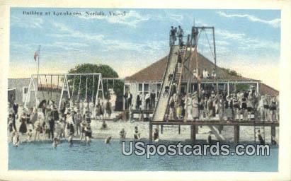 Bathing, Lynnhaven - Norfolk, Virginia VA Postcard