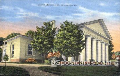 Custis Lee Mansion - Arlington, Virginia VA Postcard