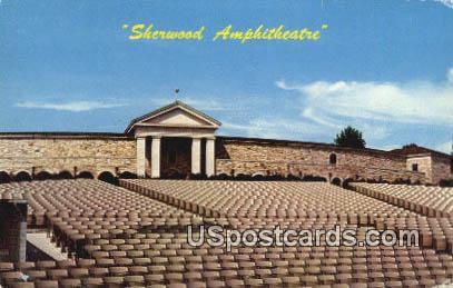 Sherwood Amphitheatre - Roanoke, Virginia VA Postcard