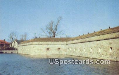 Walls & Moat, Fort Monroe - Old Point Comfort, Virginia VA Postcard