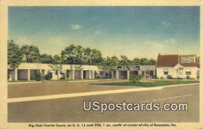 Big Oak Tourist Court - Roanoke, Virginia VA Postcard