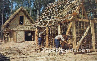 Jamestown Houses - Virginia VA Postcard