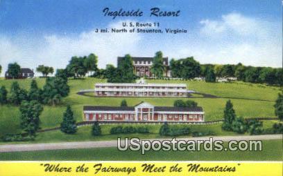 Ingleside Resort - Staunton, Virginia VA Postcard