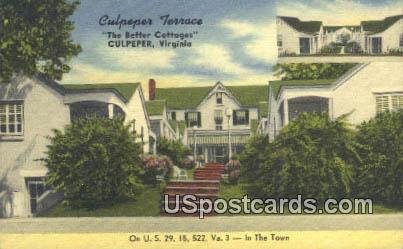 Culpeper Terrace - Virginia VA Postcard