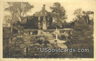 Former Home of Governor Thos Nelson - Yorktown, Virginia VA Postcard