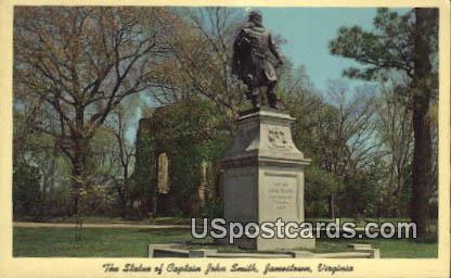 Statue of Captain John Smith - Jamestown, Virginia VA Postcard