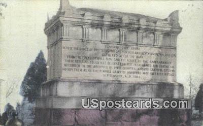 Soldiers Monument - Arlington, Virginia VA Postcard