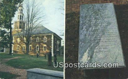 Anne Warren Grave Stone, Christ Church - Alexandria, Virginia VA Postcard