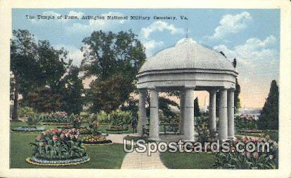 Temple of Fame - Arlington National Cemetery, Virginia VA Postcard