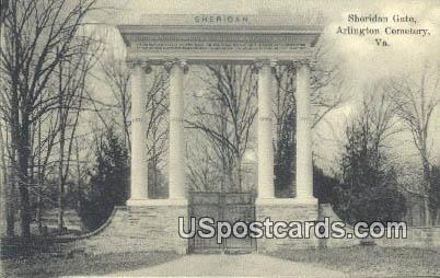 Sheridan Gate - Arlington National Cemetery, Virginia VA Postcard