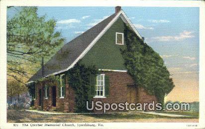 Quaker Memorial Church - Lynchburg, Virginia VA Postcard