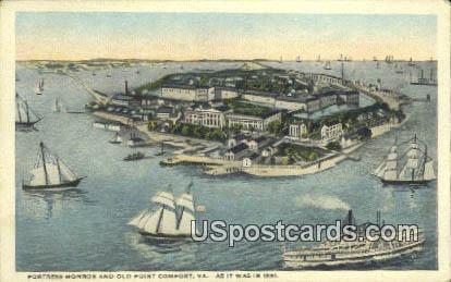 Fortress Monroe - Old Point Comfort, Virginia VA Postcard
