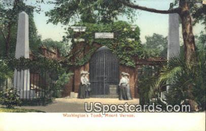 Washington's Tomb - Mt Vernon, Virginia VA Postcard