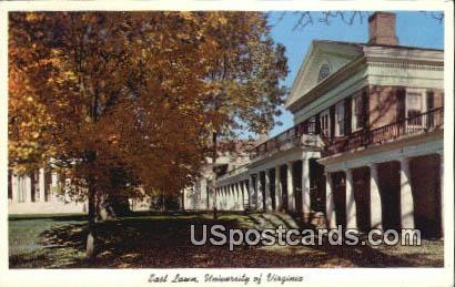 East Lawn, University of Virginia - Charlottesville Postcard