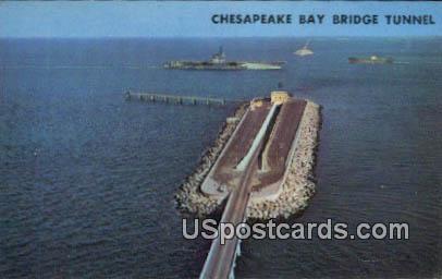 Cheasapeak Bay Bridge Tunnel - Virginia Beach Postcards, Virginia VA Postcard