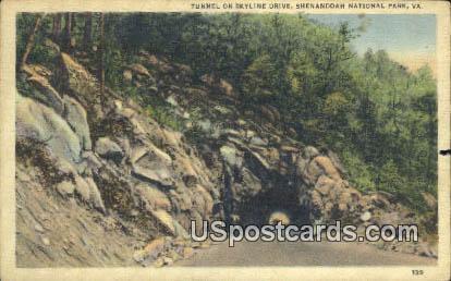 Tunnel - Shenandoah National Park, Virginia VA Postcard