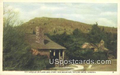 Cottages - Skyline Drive, Virginia VA Postcard