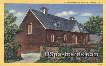 Washington's Barn - Mt Vernon, Virginia VA Postcard