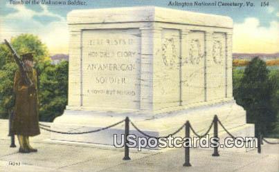 Arlington National Cemetery, VA Postcard       ;         Arlington National Cemetery, Virginia Post