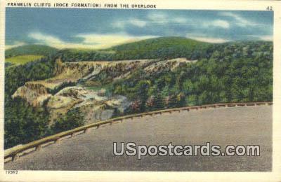 Franklin Cliffs - Shenandoah National Park, Virginia VA Postcard